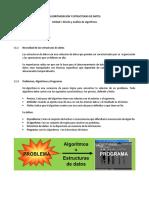 Algoritmizacion y Estructuras de Datos Folleto