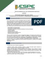 Información general del curso COMPETENCIAS DE INFORMACION