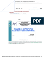 Evaluación de Proyectos Bajo Riesgo e Incertidumbre (Powerpoint) - Monografias.com