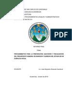Procedimientos para la Preparación, Ejecución y Fiscalización Del Presupuesto General de Ingresos y Egresos Del Estado en un Ejercicio Fiscal