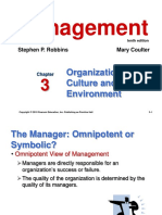 Chapter 3 Organizational Culture and Environment