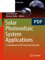 Solar Photovoltaic System Applications a Guidebook for Off-Grid Electrification
