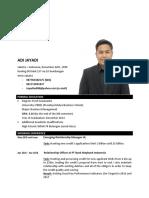 Curriculum Vitae Update