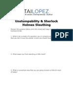 57. Unstumpability & Sherlock Holmes Sleuthing.docx