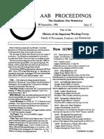 AAB Proceedings - Issue #15