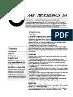 AAB Proceedings - Issue #18A