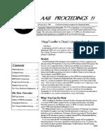 AAB Proceedings - Issue #19