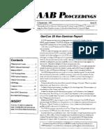 AAB Proceedings - Issue #22