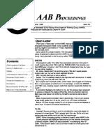 AAB Proceedings - Issue #33
