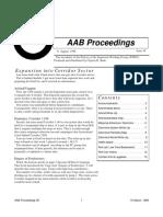 AAB Proceedings - Issue #36