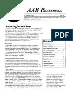 AAB Proceedings - Issue #38