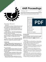 AAB Proceedings - Issue #39