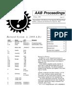 AAB Proceedings - Issue #40