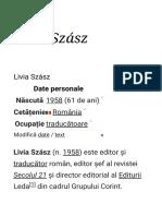 Livia Szász - Wikipedia