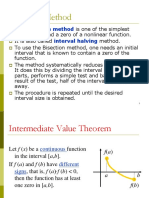 Bisection Method Lecture