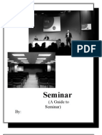 Seminar; A guide to seminar