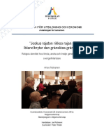 """""""Joskus rajaton rikkoo rajan –  Ibland bryter den gränslösa gränsen"""" Religiös identitet hos första, andra och tredje generationens sverigefinländare"""