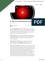 AI (Deep Learning) explained simply | Fabio Ciucci
