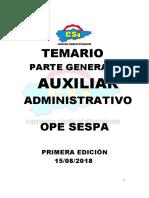CSI OPE SESPA AUXILIAR ADMINISTRATIVO PARTE GENERAL