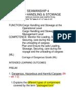 Seam 4 Cargo Handling Stowage DG ILO