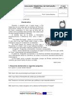 Português 3º Ano Trimestral 1º Periodo