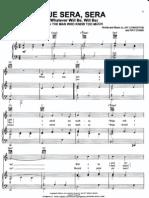 Que Sera, Sera by Doris Day Piano Sheet