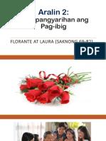 Aralin 2-Makapangyarihan Ang Pag-ibig-Forante at Laura-Saknong 69-82