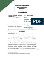 Tri-Mark Ventures v. Commissioner of Customs