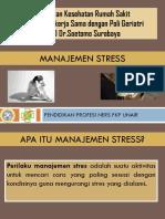 Manajemen Stress Poli Geriatri
