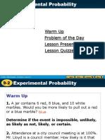 9.2 Experimental Probability
