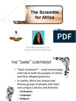 scramble for africa ppt