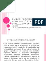 Taller Práctico de Elaboración de Evaluación Psicológica