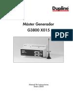 Manual G3800X015 Esp