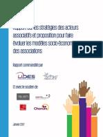 Etude Kpmg - Rapport sur les stratégies des acteurs associatifs et proposition pour faire évoluer les modèles socio-économiques des associations - Janvier 2017