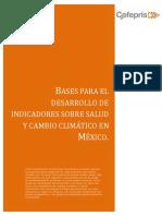 Desarrollo de Indicadores Sobre Salud y Cambio Climatico
