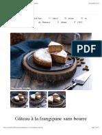 Gâteau à la frangipane sans beurre | Mes recettes Healthy