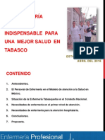 La Enfermeía en Tabasco