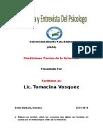 Tarea 2 de Tecnica y Entrevista Del Psicologo.