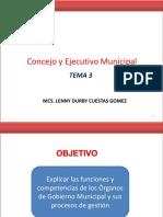 Tema 3 Concejo y Ejecutivo Municipal