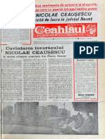 Ceausescu in Neamt 1980