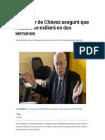 Asesor de chavez dice que Maduro see vs