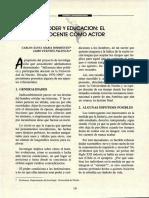 Poder Y Educación El Docente Cómo Actor - Carlos Santa Maria Rodriguez & Jairo Puentes Palencia Revista CEILAT 1998