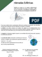 ¿Qué son las coordenadas esféricas?
