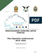 POI- 2018-2020 mancomunidad municipal hatun huaylas