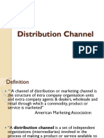 Distribution Channel Unit V