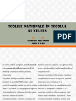 Scolile Nationale Din Secolul XII