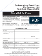 Peace Parade Football Entry Form