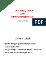 transduksi sinap dan neurotransmitter
