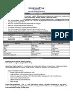 Resume of Muhammad Taqi