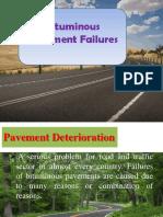 Bituminous Pavement Failures 1